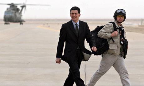 David Miliband in Basra 2009