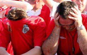 Upset England Fans